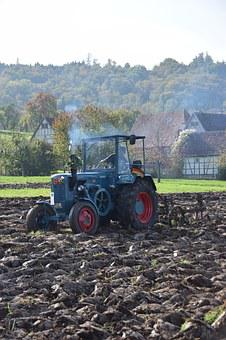 Historically, Harvest, Exhausting, Tractor, Agriculture