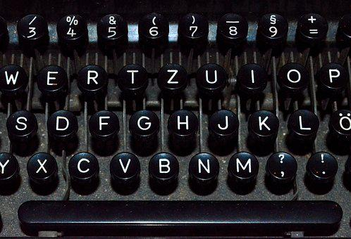 Typewriter, Keyboard, Historically, Old, Close Up