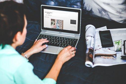 Technology, Laptop, Woman, Girl, Hands, Work, Working