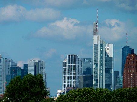 Skyline, Ffm, Frankfurt, Frankfurt City, Mainhattan