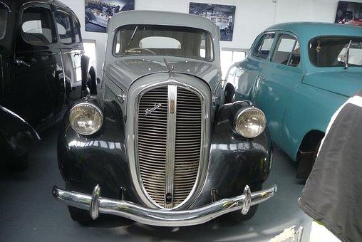 Black Grey, Car, Skoda, Museum, Mlada Boleslav, Vintage