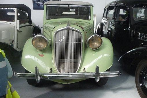 Green, Car, Skoda, Museum, Mlada Boleslav, Vintage, Old