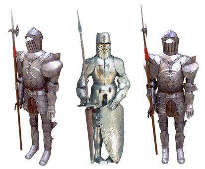 Knight, Crusader, Rider, Armor, Peak, Shield, Helmet