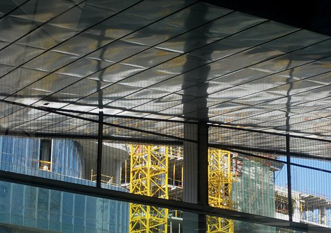 Construction, Roof, Poles, Pillar, Upright, Metal