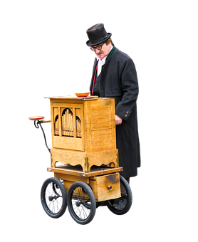 Barrel Organ, Music, Street Organ, Piano Roll, Png