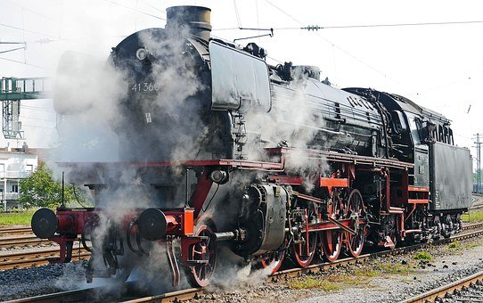 Steam Locomotive, Br 41360, Oil Engine, Preheating