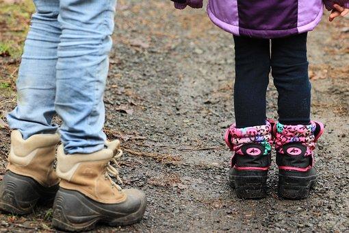 Walking, Hiking, Rain, Boots