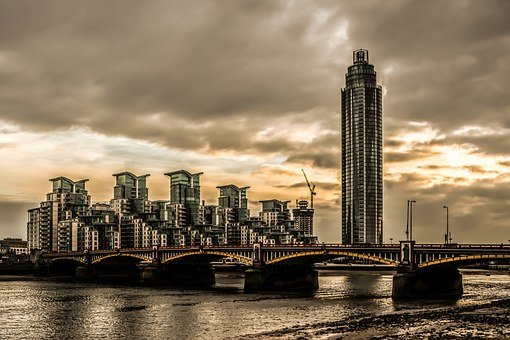 Vauxhall, Bridge, River, Thames, England, Architecture