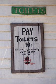Toilet, Toilets, Access, Sign, Pay