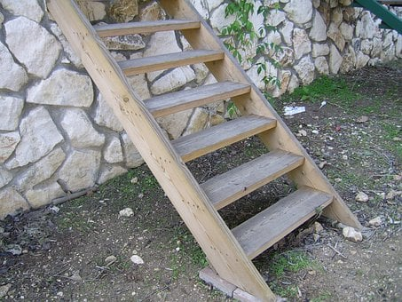 Ladder, Wooden, Steps, Climbing, Structure, Horizontal