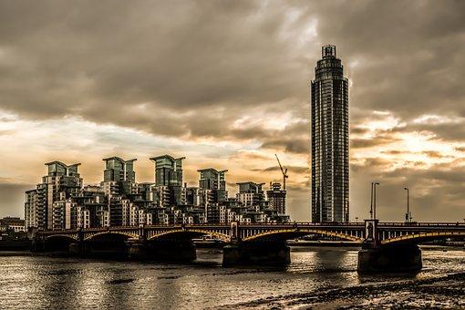 Vauxhall, Bridge, River, Thames, England, Architecture