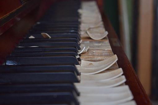 Piano, Upright Pianos, Broken, Old, Antique