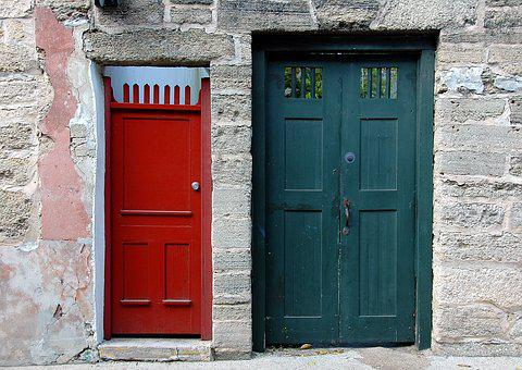 Vintage Doors, Door, Historic, St Augustine, Florida