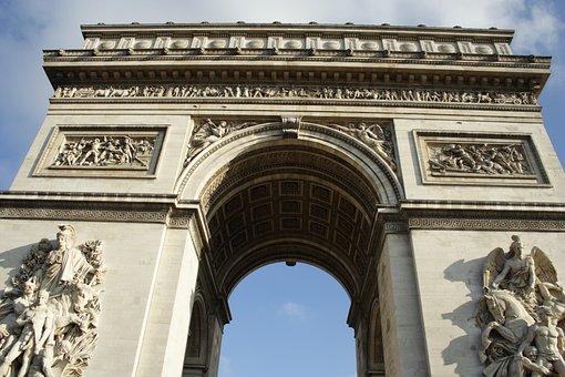 Arc De Triomphe, Monument, Paris, France