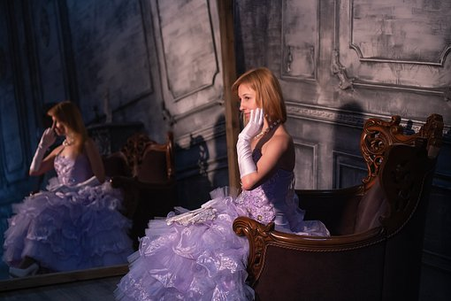 Ball, Rose, Girl, Princess, Castle