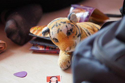 Tiger, Stuffed Animal, Cute, Beautiful, Cuddly, Soft