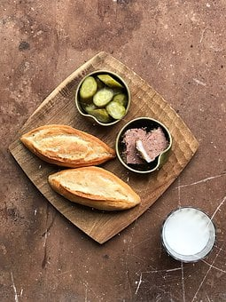 Breads, Milk, Cucumber, Pate, Healthy, Food, Breakfast