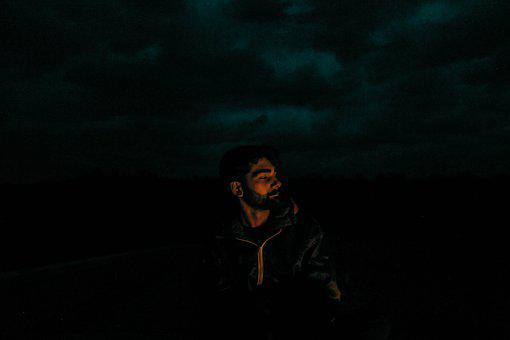 Male, Model, Night, Dark, Man, Young, Person, Adult