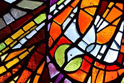 Holy Spirit, Glass Painting, Religion
