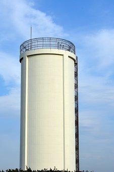 Landscape, Building, Concrete, Cylindrical