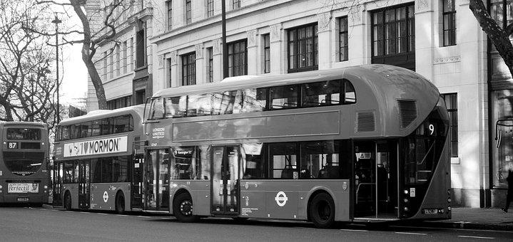 Bus, London, England, Red, Tourism, Uk