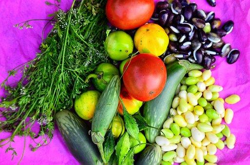 Food, Mixed, Vegetables, Fruit, Maize, Beautiful