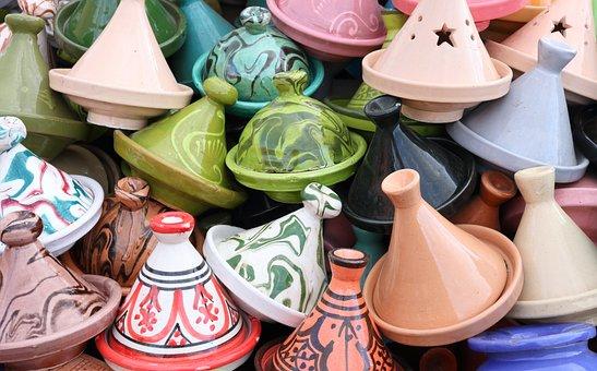 Morocco, Marrakech, Market, Tajine, Tourist, Souvenir