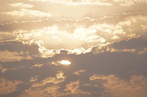 Clouds, Sun, Sky, Sunset, Sunrise, Nature, Meditation
