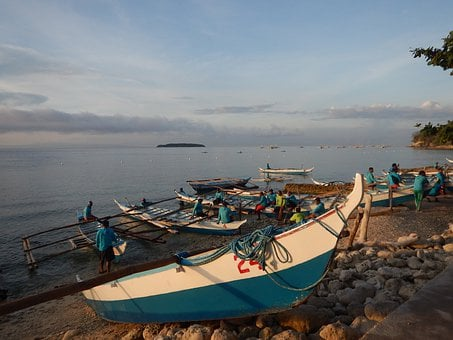 Philippines, Ocean, Beach, Boat, Outrigger, Island