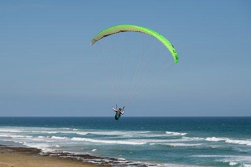 Paragliding, Paraglider, Flying, Suspended, Hover