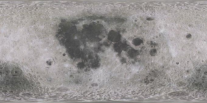Map, Moon, World, Satellite