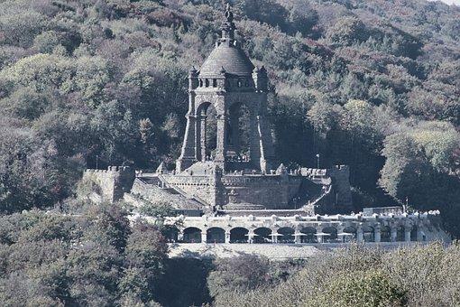 Monument, Minden, Mountain, View, Scenic, Architecture