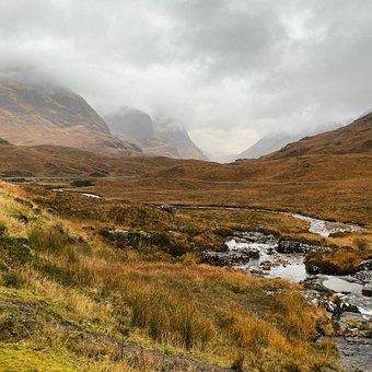 Glencoe, Highlands, Scotland, Misty, Fog