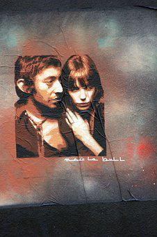 Serge Gainsbourg, Tag, Couple, Man, Woman, People