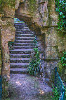 Staircase, Pierre, Roche, Landscape, Stairs, Old