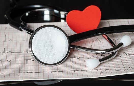 Stethoscope, Ecg, Electrocardiogram, Heartbeat, Heart