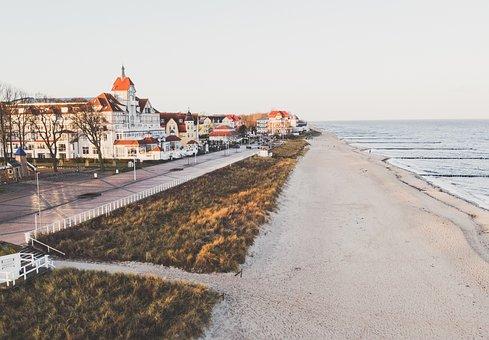 Beach, Coast, Baltic Sea, Water, Vacations, Summer