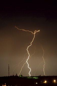 Storm, Lightning, Clouds, Night, Thunder, Rain, Nature