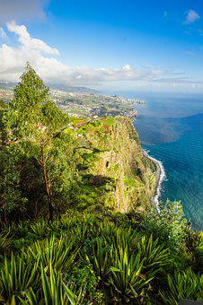 Portugal, Madeira, Cabo Girao, Island, Vacations, Coast