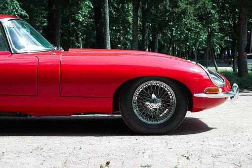 Car, Red, Auto, Vintage, Automobile, Vehicle, Luxury