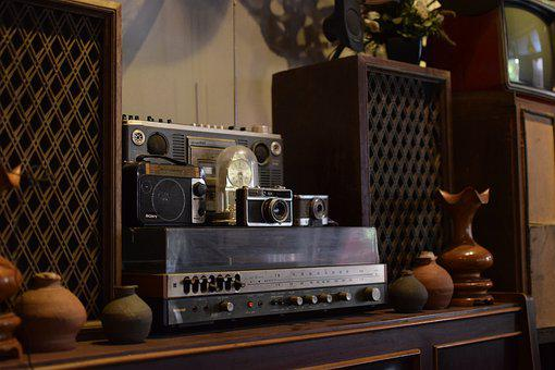 Vintage, Furniture, Radio, Old, Aged, Objects, Camera