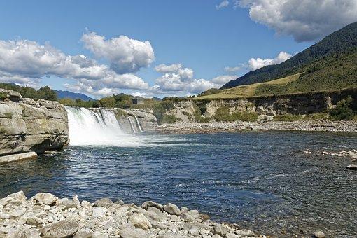 New Zealand, Maruia Falls, Waterfall, Water