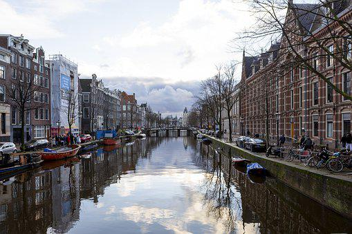 Amsterdam, Holland, Winter'S Evening