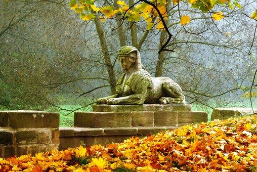 Park, Statue, The Sphinx, Art, Architecture, History
