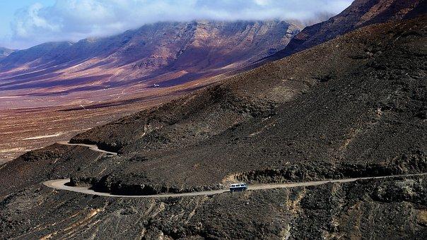 Road Of The Impossible, Desert, Asphalt, Volcano