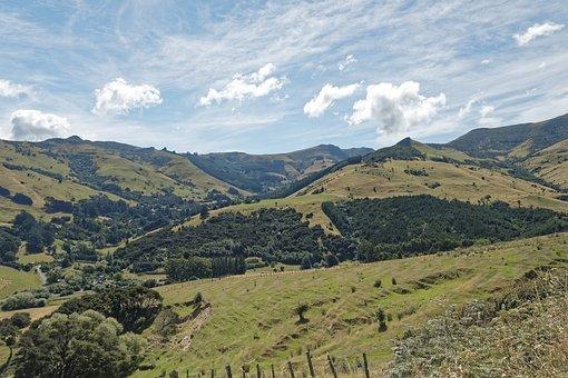 New Zealand, Banks Peninsula, Peninsula, Canterbury