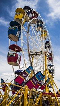 Ferris Wheel, Carnival, Fair, Entertainment, Fun