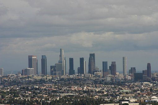 Los Angeles, Downtown, City, Cityscape, Skyline
