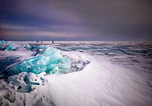 Ice, Cold, Winter, Baikal, Frozen, Nature, Idyll