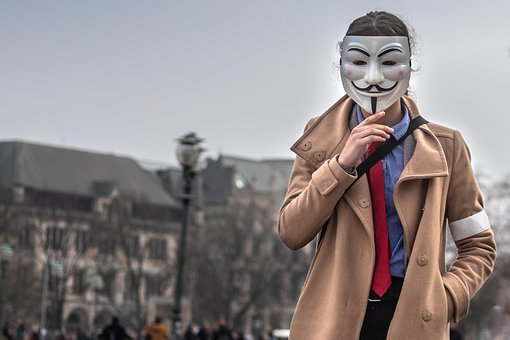 Donations Keeps Me Going, Vendetta, Anonymous, Mask
